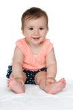 Szczęśliwa dziewczynka na bielu Zdjęcia Stock