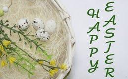 Szczęśliwa Easter karta, Zdjęcie Stock