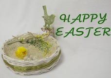 Szczęśliwa Easter karta, Fotografia Royalty Free