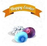 Szczęśliwa Easter karty ręki remisu ilustracyjna akwarela Obrazy Royalty Free