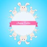 Szczęśliwa Easter królika karta Zdjęcia Royalty Free
