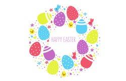 Szczęśliwa Easter wektorowa ilustracja dla logo, ikony i odznaki Easter, Gratulacje szablon ilustracja wektor
