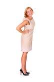 Szczęśliwa elegancka dama Zdjęcia Stock