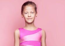 Szczęśliwa gimnastyczna dziewczyna Obraz Stock