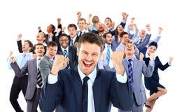 Szczęśliwa Grupa Biznesowa zdjęcia stock