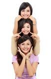 Szczęśliwa grupa dziewczyny Zdjęcia Royalty Free