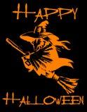 szczęśliwa Halloween czarownica Zdjęcie Royalty Free