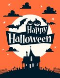 szczęśliwa Halloween ilustracja ilustracja wektor
