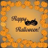 Szczęśliwa Halloween karta Obraz Royalty Free