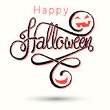Szczęśliwa Halloween literowania karta Zdjęcia Stock