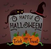 Szczęśliwa Halloween, trikowej lub fundy bania, Obrazy Royalty Free