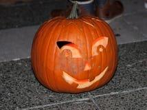 Szczęśliwa Halloweenowa bani głowa Obrazy Royalty Free
