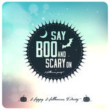 Szczęśliwa Halloweenowa etykietka Obrazy Royalty Free