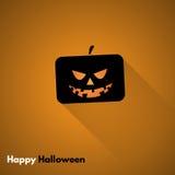 Szczęśliwa Halloweenowa etykietka z baniami Zdjęcia Stock