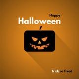 Szczęśliwa Halloweenowa etykietka z baniami Obrazy Stock