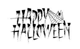 Szczęśliwa Halloweenowa kaligrafii literowania inskrypcja obrazy stock