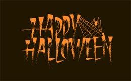 Szczęśliwa Halloweenowa kaligrafii literowania inskrypcja zdjęcia stock