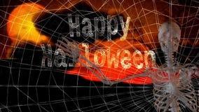 Szczęśliwa Halloweenowa kościec fala royalty ilustracja