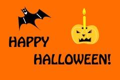 Szczęśliwa Halloweenowa powitanie karta royalty ilustracja