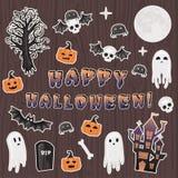 Szczęśliwa Halloweenowa przerażająca majcher paczka Obrazy Stock