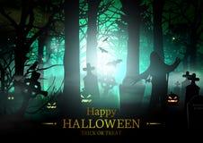 Szczęśliwa Halloweenowa wektor karta Fotografia Royalty Free