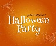 Szczęśliwa Halloweenowa wektorowa typografia Zdjęcia Royalty Free
