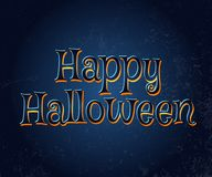 Szczęśliwa Halloweenowa wektorowa typografia Zdjęcia Stock