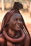 Szczęśliwa Himba dziewczyna, Namibia zdjęcie stock