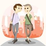 Szczęśliwa Homoseksualna para Obraz Royalty Free