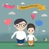 Szczęśliwa Homoseksualna para Fotografia Royalty Free