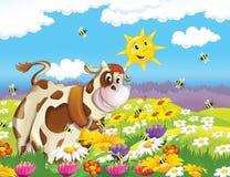 Życie na gospodarstwie rolnym - ilustracja dla dzieci ilustracji