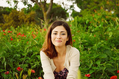 Szczęśliwa i uśmiechnięta dziewczyna Obraz Royalty Free