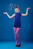 szczęśliwa karnawałowa dziewczyna zdjęcie stock