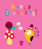 szczęśliwa kartkę na urodziny ilustracji