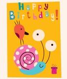 szczęśliwa kartkę na urodziny royalty ilustracja