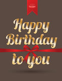 szczęśliwa kartkę na urodziny Zdjęcie Royalty Free