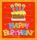 szczęśliwa kartkę na urodziny Obraz Stock