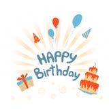 szczęśliwa kartkę na urodziny Obrazy Royalty Free