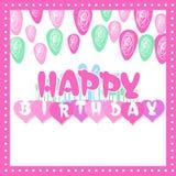 szczęśliwa kartkę na urodziny Fotografia Stock
