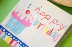 szczęśliwa kartkę na urodziny Zdjęcia Royalty Free
