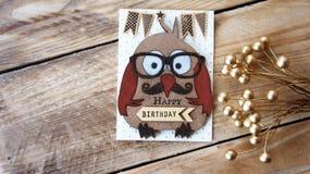 szczęśliwa kartkę na urodziny zdjęcie stock