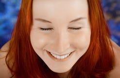 Szczęśliwa kobieta Close-up portret. Zdjęcie Royalty Free
