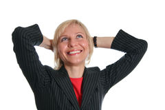 szczęśliwa kobieta jednostek gospodarczych Obraz Stock