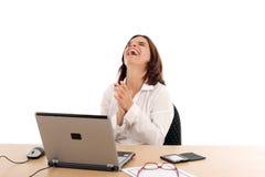 szczęśliwa kobieta jednostek gospodarczych Fotografia Royalty Free
