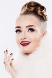 szczęśliwa kobieta Makeup i Karowy pierścionek Obrazy Royalty Free