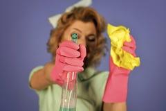 szczęśliwa kobieta Retro Seksowna gospodyni domowa Zdjęcia Stock