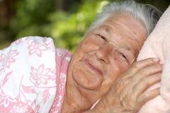 szczęśliwa kobieta starsza zdjęcie stock