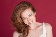 szczęśliwa kobieta uśmiechnięta Fotografia Stock