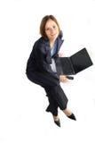 szczęśliwa kobieta uśmiechnięta jednostek gospodarczych obrazy stock