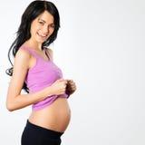szczęśliwa kobieta w ciąży zdjęcie royalty free